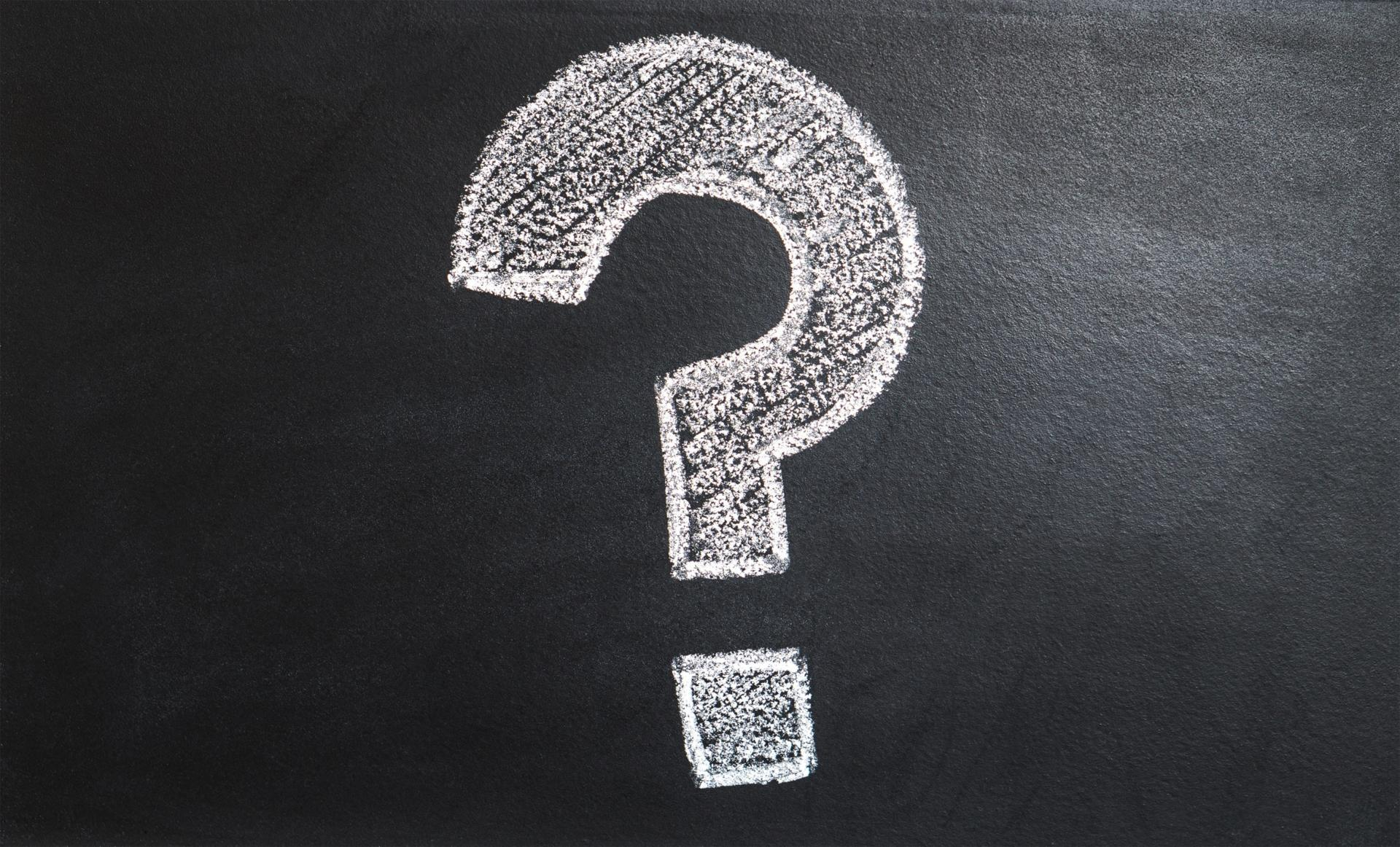 How will the IRS Ever Know? A photo of a question mark on a chalkboard