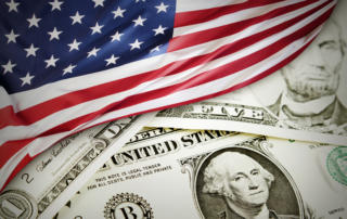 IRS Hot Topics-photo of US flag and paper money